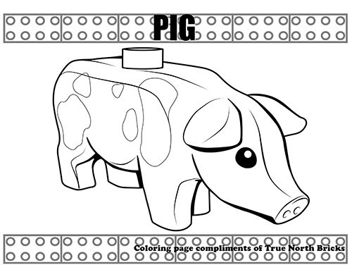Coloring Page Pig Coloring Pages Lego Coloring Pages Lego