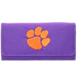 Clemson University Tigers polyester licensed wallet embroidered with team logo $39.99