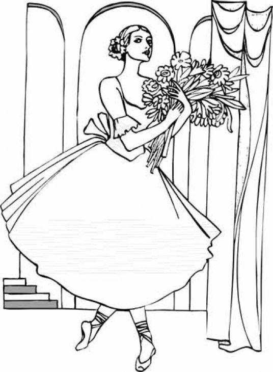 A Gorgeous Ballerina Coloring Page To Print Online Letscolorit Com Coloring Pages Coloring Pages To Print Ballerina Coloring Pages