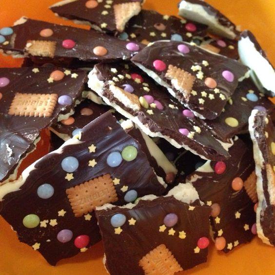 Bruchschokolade selbstgemacht