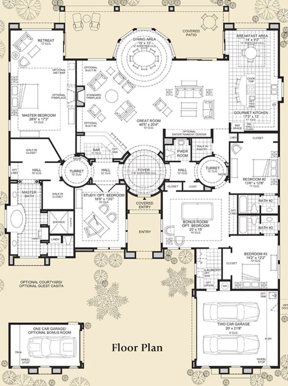 Floor plans floors and great rooms on pinterest for 3br 2ba floor plans