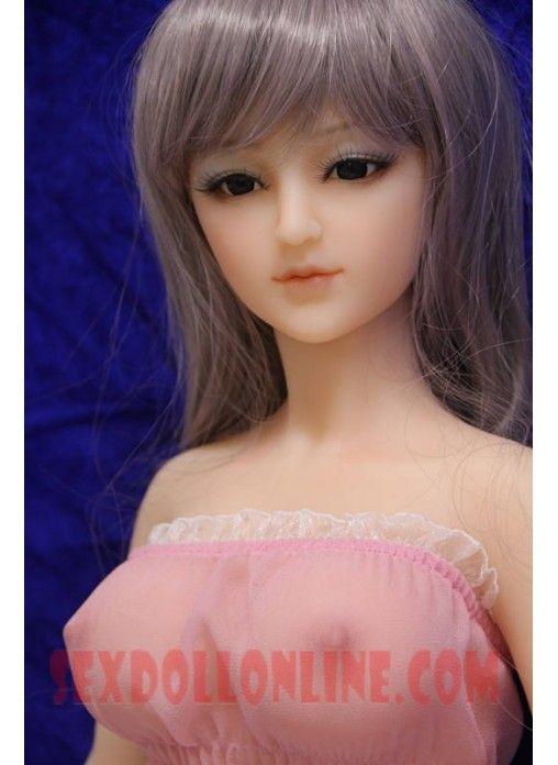 Buy 88cm real mini silicone sex doll , full size love dolls, real silicone sex dolls with metal skeleton, artificial vagina