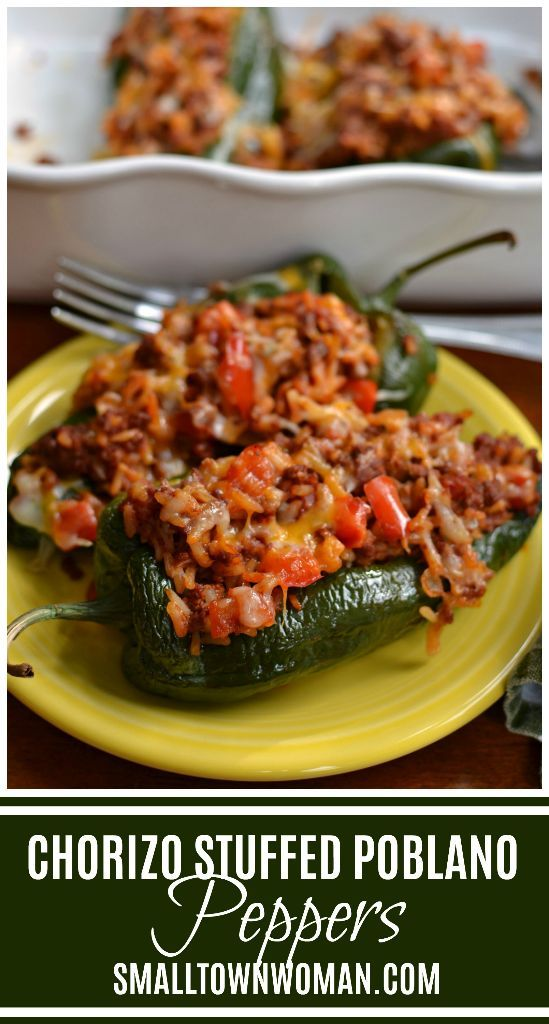 Stuffed Poblano Peppers Recipe Stuffed Peppers Stuffed Poblano Peppers Peppers Recipes