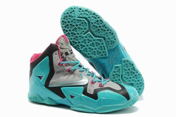 Nike LeBron 11 Silver/Jade/Pink $87.99 http://www.shopitfire.com