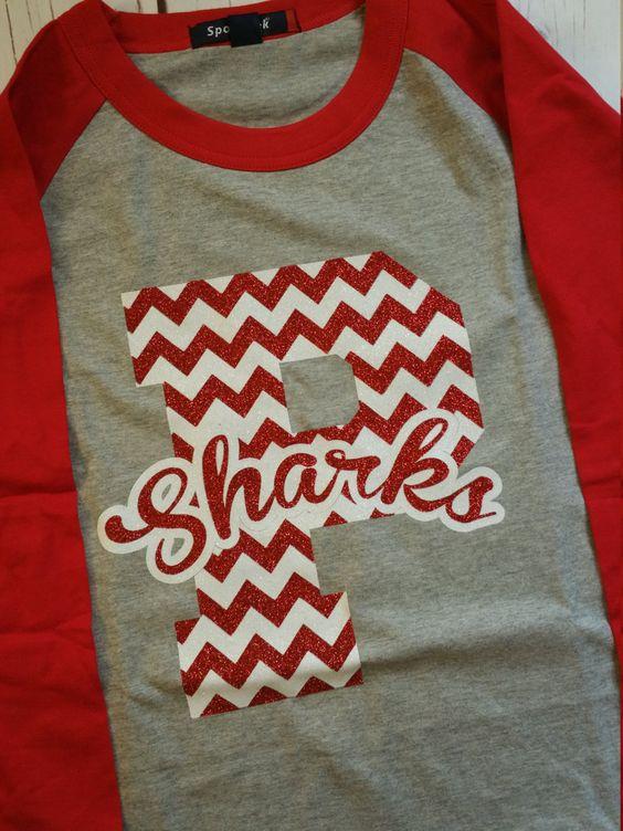 Baseball Tee-Custom Chevron Team School Shirt-Large Mascot Letters Chevron…