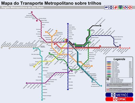 Sao Paulo (Brazil) Subway Map