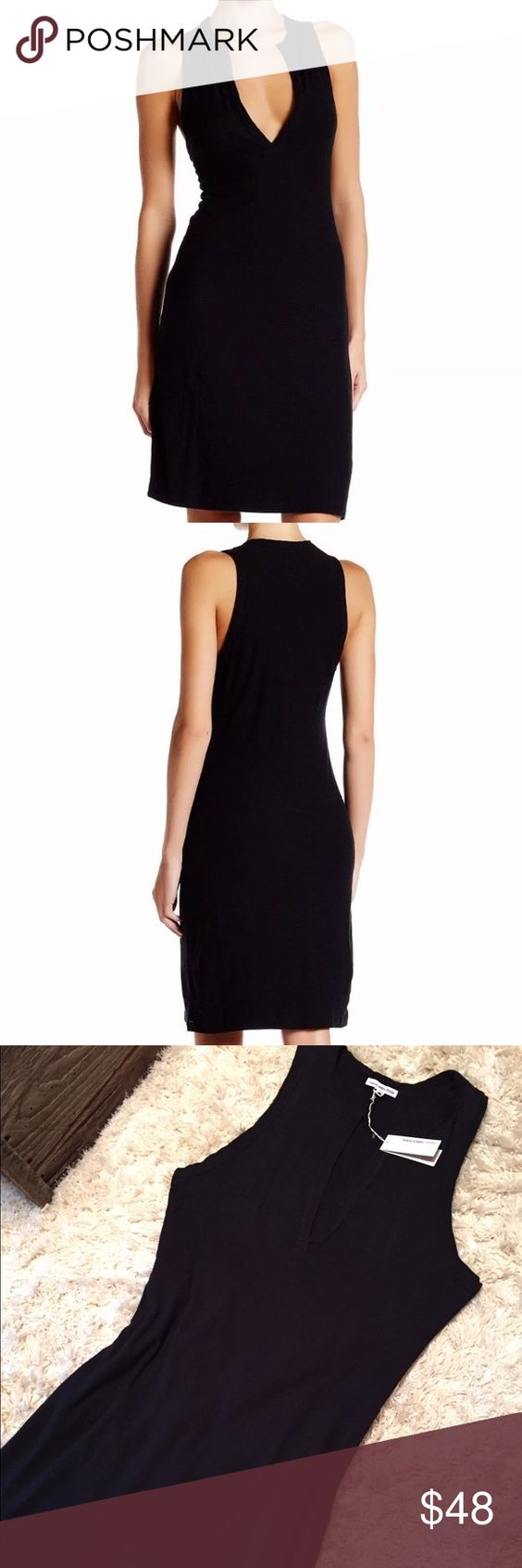 James Perse Open Henley Tank Dress in Black Sz 3 New with tags- James Perse Jersey Open Henley Tank Dress. Cotton Blend. Black. James Perse is the softest clothing you can imagine. It's luxurious. Size 3 James Perse Dresses Mini
