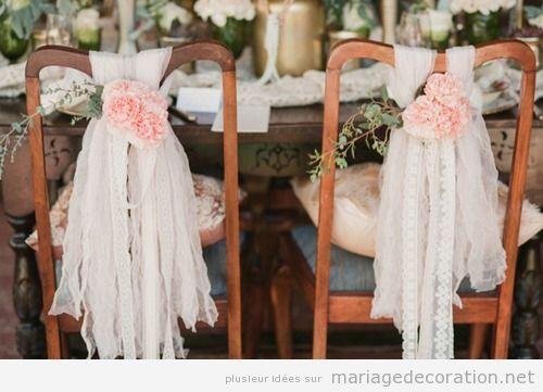 ide pour dcores els chaises des maries pendant le banquet dcoration mariage ides pour - Deco Mariage Pas Chere