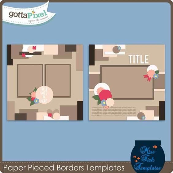 Paper Piece Borders Templates Miss Fish Templates Pinterest - border paper template