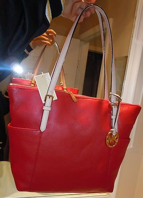 chanel chain bag replica - $228 Michael Kors Jet Set Item Ew Tz Tote Purse Red Bag Full ...