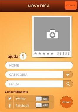 Só criar o seu perfil. Está oficialmente lançado o meu aplicativo, Ana Gourmet.