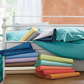 sheets for Coen $22 at the Company Store! Coral? Lily green??