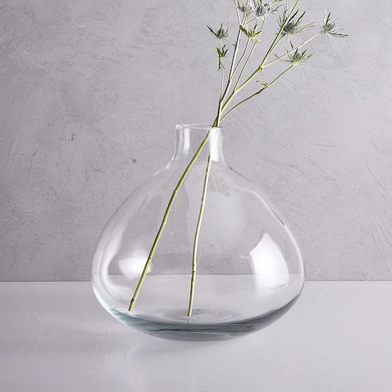 Oversized Glass Floor Vase Blue At West Elm Vases Home Decor Pottery Homedecorproducts Glass Floor Vase Glass Vase Glass