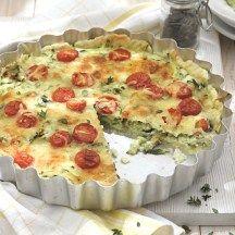 Quiche met courgette en aubergine  Een heerlijk recept dat perfect binnen het ProPoints® plan past.