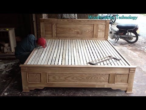 Assembly Of A Bed And Fitted Drawers Pre July 2015 Youtube Wooden Bed Wooden Bed Design Wooden King Size Bed
