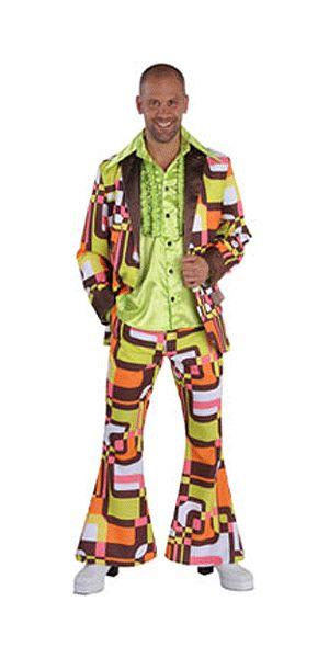 Sixties retro pak voor heren. Kleurrijk sixties colbert en broek voor heren. Voor bijpassende accessoires en overhemden kunt u ook in deze webshop terecht! Carnavalskleding 2015 #carnaval