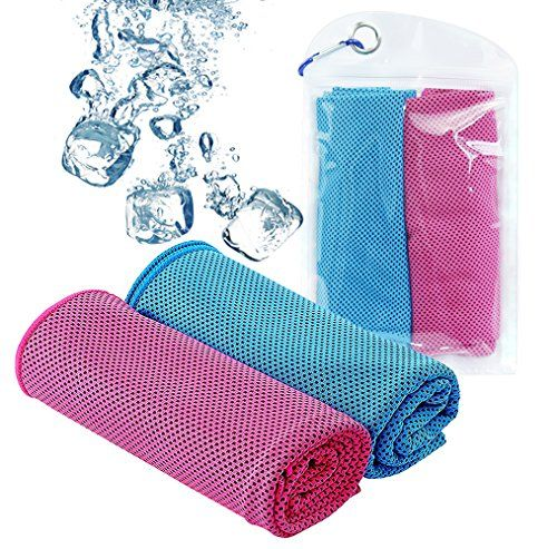 Dayooh Sports Cooling Towel Breathable Mesh Towel Instant Ice Antibacterial Towel For Hot Sweaty Summer Days Golf