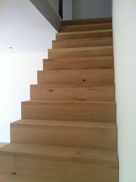 Trapbekleding met hout wooden staircase houten trap for Open trap bekleden met hout