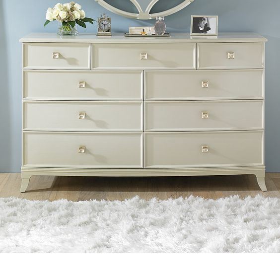 """Features:  -Crestaire collection.  Product Type: -Combo dresser. Dimensions:  Overall Height - Top to Bottom: -40.8"""".  Overall Width - Side to Side: -65"""".  Overall Depth - Front to Back: -21"""".  Overal"""