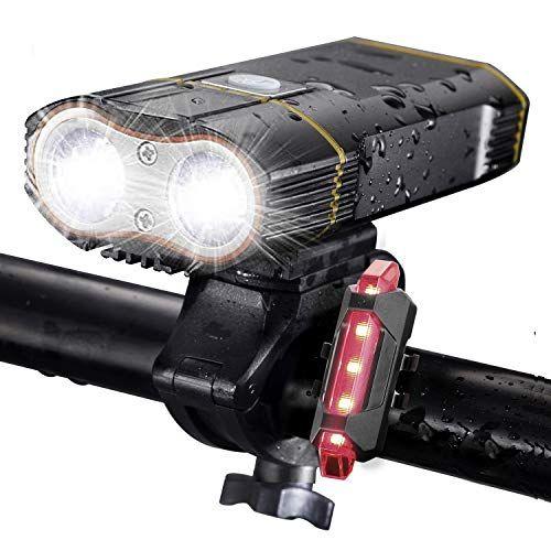 Dikomo Bike Light Front And Back 2400 Lumen 2 Led Best Mountain