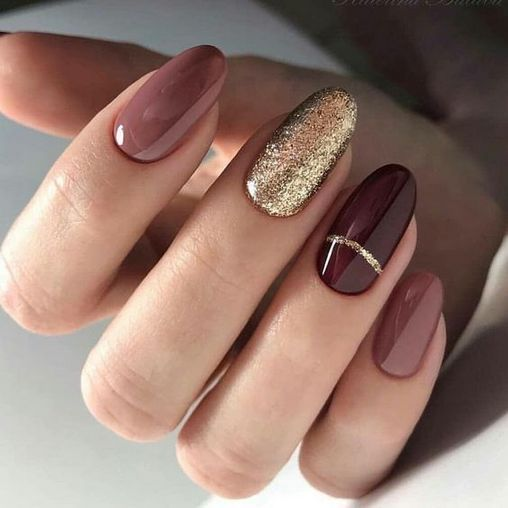 A Simple Tip About Gel Nails Ideas For Fall Autumn Art Designs Uncovered Apikhome Com Oval Nails Designs Oval Nails Gorgeous Nails