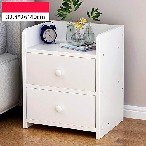 Krpenrio Bedside Table Simple Small Cabinet Storage Cabinet Bedroom Side Cabinet Storage Cabinet Col Simple Bedside Tables Wood Bedside Table Storage Cabinets