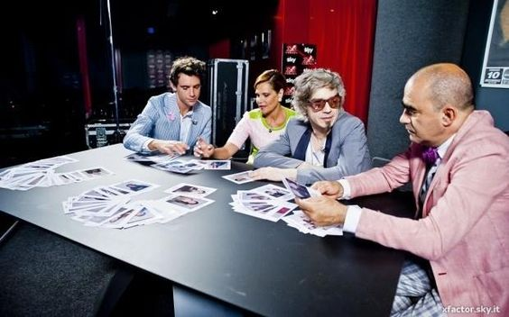 MIKA & his fellow judges on XFactor Italia 2013