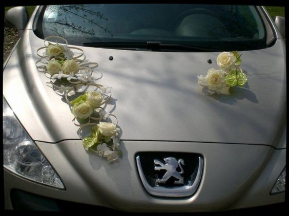 dcor de voiture ventouse thme du mariage pendant ma formation fleuriste bouquet de marie - Decoration Voiture Mariage Ventouse