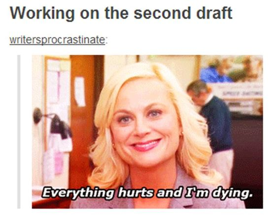 Working on the second draft...