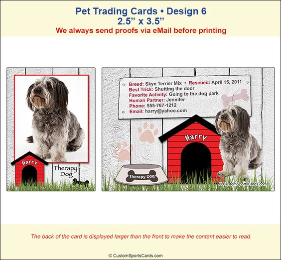 Canine Good Citizen Trading Cards Companion Dog Trading Cards Custom Canine Cards Pets Dogs Therapy Dogs