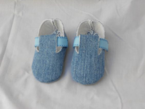 Infant Denim Booties by KinderBoutique on Etsy, $28.00