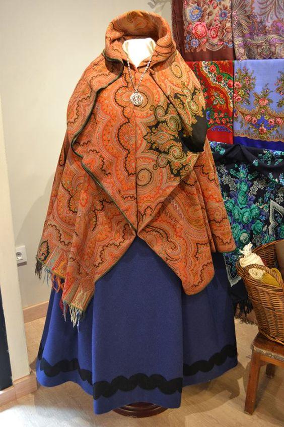 mantones y pañuelos trajes regionales de Aragón