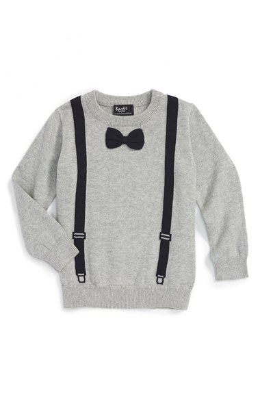 Bardot Junior Bardot Junior 'Bow Tie' Intarsia Knit Sweater (Baby Boys) available at #Nordstrom