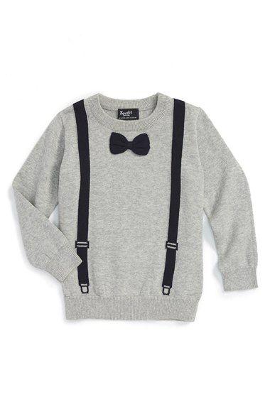 Bardot Junior Bardot Junior 'Bow Tie' Intarsia Knit Sweater (Baby Boys) available at #Nordstrom