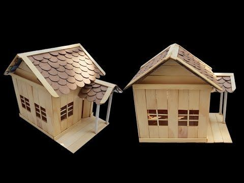 How To Make Popsicle Stick House Building Classic Villa Youtube Popsicle Stick Houses Building A House Popsicle Sticks