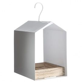 Birdhouse - 14x11x21 cm, white, Madam Stoltz