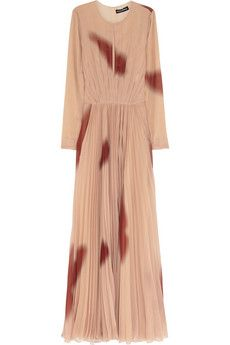 The perfect dress to be possessed in: a quaint Amish cut with disgusting dried blood stains already printed right on it!
