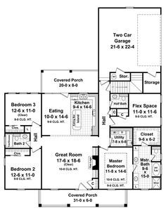 House Plan: HHF-7028, 1 story, 1888 total square footage - Direct from the Designers