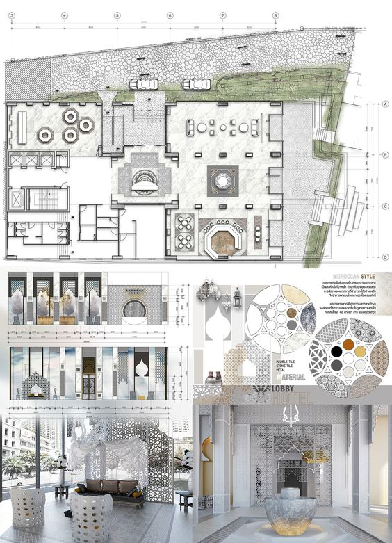5 Star Hotel Plan of Reception and Lobby   Interior design   Pinterest    Lobbies, Interiors and Hotel lobby design