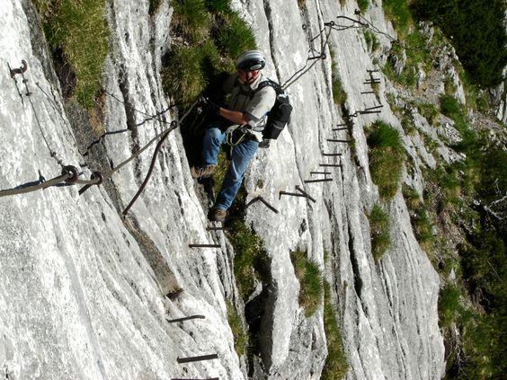 Zugspitze Höllental Klettersteig Auf dem Brett