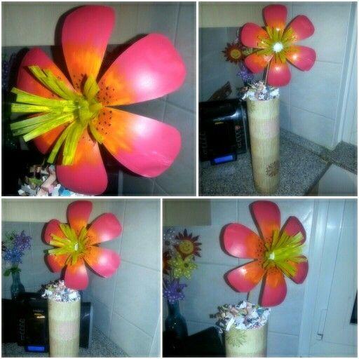 Flower Vase From Plastic Bottle