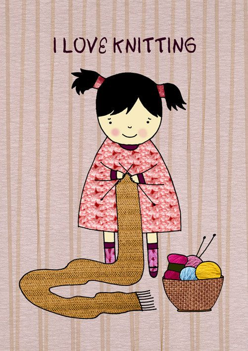 I love knitting!: