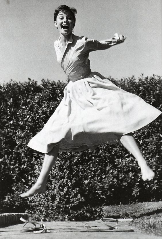 Audrey jumped. | 35 Magical Moments Captured With A Camera: