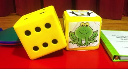 animal action dice game (large group)