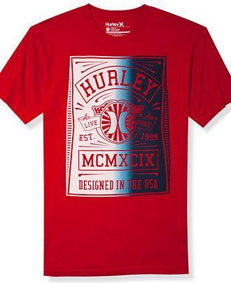 Hurley T-Shirt, Live Free Graphic T-Shirt - T-Shirts - Men - Macys
