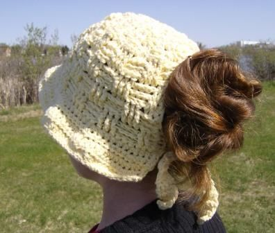Sunhat with ponytail cutout -- with pattern! - CROCHET | Crochet ...