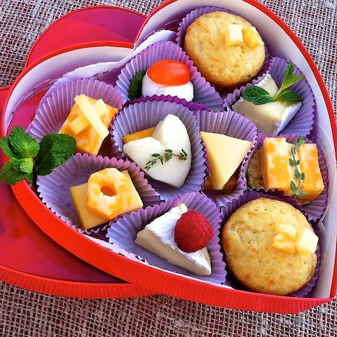 "Cute idea, use an old chocolate box and prepare a ""tapas"" style lunch for the kids on Valentine's Day"