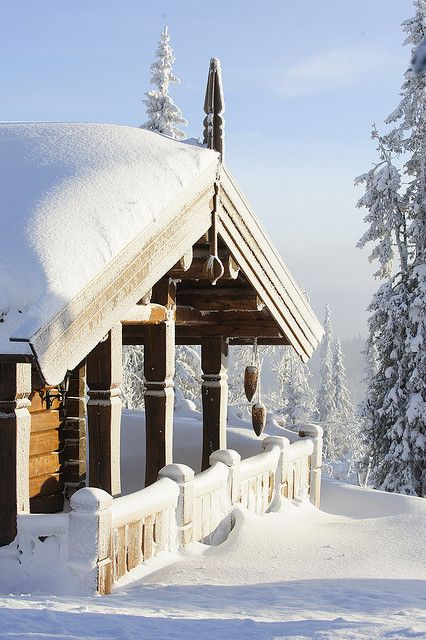 """Hytte in Trysil, Norway. Owning a """"hytte"""" is very popular in Norway. During 4-5 weeks vacation, people spend some of the time at the """"hytte""""."""