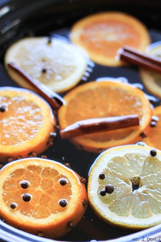 It's easy to make, and the smell of apple cider simmering with oranges, lemons, and spices all day in the slow cooker is absolutely wonderful.