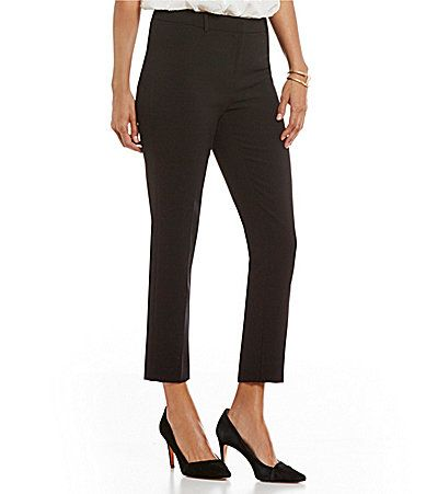 Ellen Tracy Stretch Crepe AnkleZip Tapered Slim Trouser #Dillards